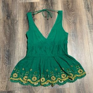 Unique beaded anthropology tank top! Size 4